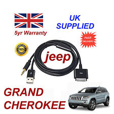 JEEP GRAND CHEROKEE Multimedia ADAPTER IPHONE 3GS 4 4S IPOD USB AUX Cavo Nero