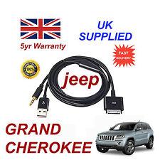 JEEP Grand Cherokee Multimedia Adaptateur iPhone 3GS 4 4S iPod Câble Aux USB NOIR