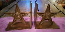 New listing Pair of Lone Star Bookends Cast Iron Metal Rustic Western Decor for shelf