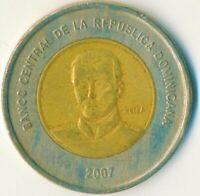 2007 DOMINICAN REPUBLIC  / 10 PESOS    #WT12143
