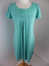 MONSOON fusion tunic dress Size M medium green short sleeve pleated Bust 36""