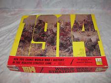 Vintage 1968 Avalon Hill 1914 World War I Strategy War Board Game Complete