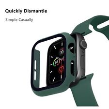 3 in 1 Case + Glass + Strap For Apple Watch All Series Models Sizes and Colors