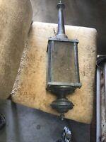 wall sconce light fixture, metal, glass, outdoor, porch light