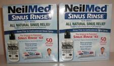 2 x NeilMed Original Sinus Rinse Kit Packets 50 ct Dr. Mehta x2 KITS (NEW**LQQK)