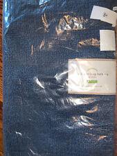 Pottery Barn Classic Organic Cotton Loop Rug 17x24 Indigo Navy Blue NWT