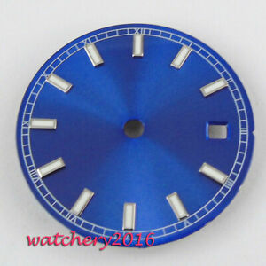 29mm Blue Watch sterile Dial fit 2836 2824 2813 3804 Miyota 82 Series movement