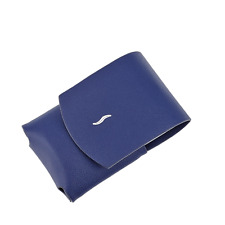 S.T. Dupont Leather Case Pouch For the Minijet Lighter, Blue, 183051, New In Box