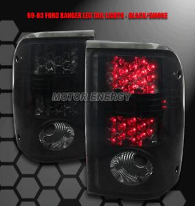 01-05 FORD RANGER PICKUP TRUCK LED TAIL BRAKE LIGHTS LAMP BLACK/SMOKE STX XL XLT