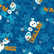 1/2m Disney Frozen Olaf Chillin Toss Sewing Quilting Fabric
