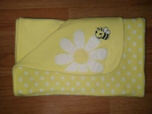 Gymboree Daisy Bee Blanket Cute As Can Be Reversible Blanket Yellow Dots