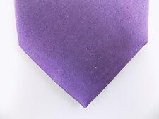 "ALFANI $50 MEN Purple Solid Skinny WIDTH 3"" NECK TIE 100% Silk CASUAL M28"
