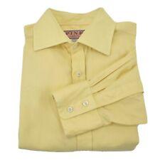 Thomas Pink Finest Twill Men's Yellow Long Sleeve Button Front Shirt Sz 15.5/34