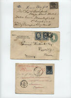 3 1880-91 Banknote covers to foreign destinations [y3478]
