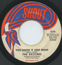 Hear- Rare Northern Soul 45- The Exciters- You Know It Ain't Right - Shout # 214