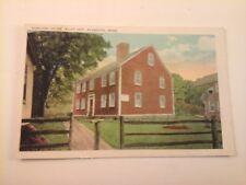 Vtg 1915-20's White Border Postcard HOWLAND HOUSE, Built 1667, Plymouth, MASS.