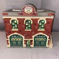 RARE The Original Snow Village Fire Station No. 2 #5091-1 Building by Dept. 56