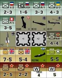 The Russian Campaign ('74) Multiple Variant Counters