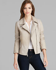Dawn Levy Beige  Brooklyn Luxe Leather Trim Jacket ( Size S)