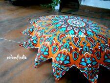Indian star shine Mandala Pillow Floor Cushion Cover sofa decor sun face art