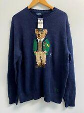 NEW Polo Ralph Lauren College Preppy Bear Sweater Navy Blue Big & Tall L-4XB