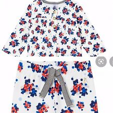 PETIT BATEAU Off White Abstract Berry Print Cardigan And trousers - 3 Years Old-