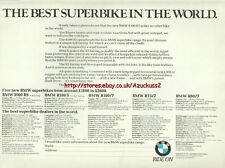BMW R100RS Motorcycle 1976 Magazine 2 Page Advert #477