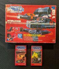 Captain Power Interlocker Mattel 1987 Anti Aircraft w/2 VHS Tapes 1 Sealed