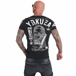 Neues Yakuza Herren Ulster T-Shirt – Schwarz