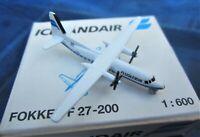 schabak icelandair fokker f 27-200 modellflugzeug in ovp 1:600  metall nr 930/72