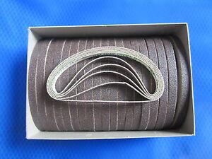 BOX OF 100 MEDIUM GRIT EASTMAN ABRASIVE SHARPENING BANDS BELTS, #181C2-2