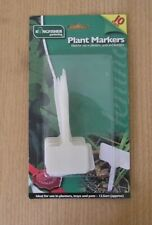 Large Plant Label Markers 10x White Square Pot Seedling Cutting Plastic Sign