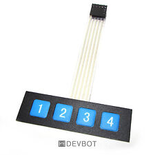 Clavier 4 touches, KeyPad 1x4. Arduino, Domotique, DIY, Raspberry Pi (v2)