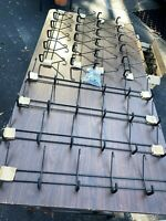 8 RACKS w/48 Padded Steel Wall Hooks For Workshop Garage Shed Long-Handled Tools