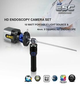 Endoscopy Camera, Rigid Endoscope , LED Cold light source ENT HD Olympus Storz