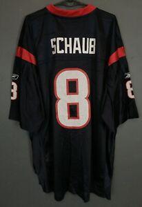 REEBOK MEN'S MATT SCHAUB #8 HOUSTON TEXANS NFL FOOTBALL SHIRT JERSEY SIZE XL