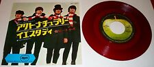 THE BEATLES JAPAN ONLY APPLE LABEL RED VINYL 45 WITH PICTURE SLEEVE