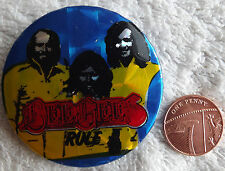 "BEE GEES Rule Old Vtg 70`s/80`s Large Holographic Button Pin Badge(52mm-2"")Gibb"