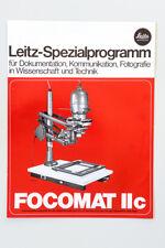 Broschüre Prospekt Katalog LEICA LEITZ SPEZIALLPROGRAMM FOCOMAT IIc 1976 D