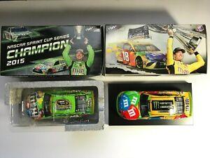 Kyle Busch 1/24 Lot - 2015 Crispy Champion & 2019 M&M's 2X Champ - NASCAR Action