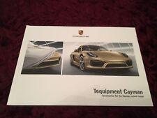 Porsche Cayman Tequipment Brochure 2016