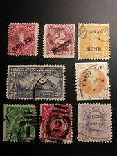 US possessions used Philippines, Canal Zone, Puerto Rico set of 8 stamps