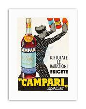 CAMPARI laperitivo. ca. 1934 ARREDAMENTO POSTER STAMPE SU TELA ART