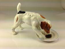 Vintage Royal Doulton Porcelain Dog Licking Plate by Birney Creek England