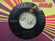 Elvis Presley - Guitar Man / Faded Love -  USA  45 Jukebox