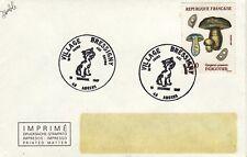 X363  enveloppe thème CHIEN 10ème foire aux chiens VILLAGE BRESSIGNY ANGERS 1987