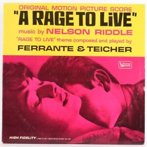 Nelson Riddle, A Rage To Live  Vinyl Record *USED*