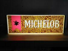 Vtg Vintage 1976 Michelob Beer Light Up metal back bar Sign anheuser busch nice!