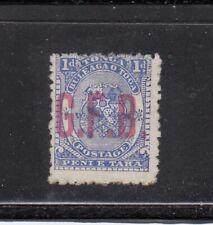 Tonga 1893 1d official 'G.F.B.' overprint as shown, no gum