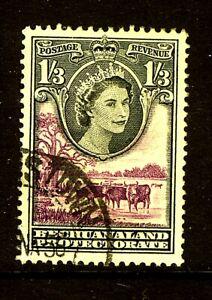 1955 Queen Elizabeth II SG150 1s.3d. Black & Lilac Fine Used BECHUANALAND
